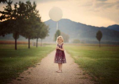 Mädchen mit Ballon